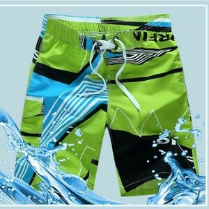 Men Summer Swimsuit Shorts Surf Swim Wear Beach Board Quick Dry Swimming Trunks