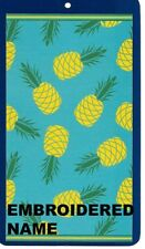 """40"""" x 72"""" Oversized Name Embroidered Beach / Pool Towel With Pineapple Twist"""