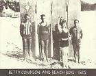 "BETTY COMPSON BEACH BOYS 1925 Hawaii LONGBOARD Photo Print 1305 11"" X 14"""