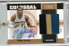 2010-11 John Wall National Treasures COLOSSAL 3CLR PATCH AUTO RC #D 17/25 (c23)