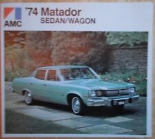 AMC Matador Sedan & Wagon 1974 brochure - American Motors Corp