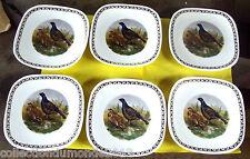 6 Assiettes de Longchamp décor de Chasse