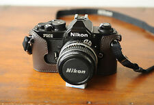 Zhou Brown Leather Half Case for Nikon FM2 SLR Camera