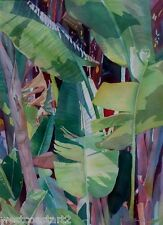 Gerry Thompson SFCA NWWS ARCT Botanical Palm Fronds Painting Canadian Listed