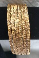 22k Gold Plated Bangles Set Size 2-6, 2-8,2-10, 2-12 multiple designs FREE Ship