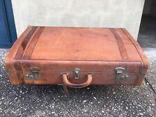 Vintage Victor leather luggage suitcase England - VALIGIA VINTAGE Victor Luggage