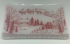 Michel Design Works Glass Soap Dish Christmas Sleigh Santa's Eve NEW in Box