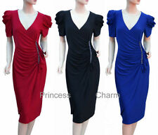 Polyester Mid-Calf Cocktail Women's Dresses