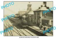 6 x 4 PHOTO OF OLD ALBURY  RAILWAY STATION 1929 NSW