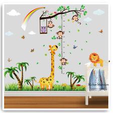 Monkey Wall Stickers Animal Giraffe Owl Jungle Zoo Nursery Kids Bedoom Decor Art