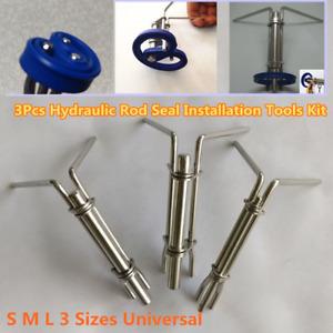 Hydraulic Cylinder Piston Rod Seal Up U-cup Installation Tool Prevents Damage 3X