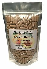Apricot Kernel Capsules 90 X 500mg Natural Raw & Bitter