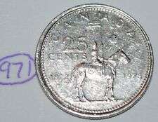 Canada 1973 25 cents Canadian Mountie Quarter Coin Lot #971