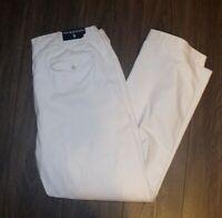 VTG Deadstock Polo Ralph Lauren Nautical Pants 38x32 Off White Rope Belt