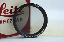 LEICA LEITZ 13354 CIRCULAR POALRIZING LENS FILTER WITH BOX AND CASE (MINT)