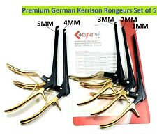 German Kerrison Rongeurs Black Ampgold 12345mm Cervical Orthopedic Surgical