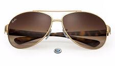 Ray-Ban RB3386 001/13 Aviator Sunglasses | Gold Tortoise / Brown Gradient Lens