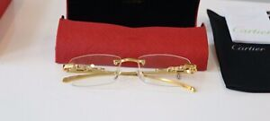 Cartier Glasses buffalo rimless Clear lens