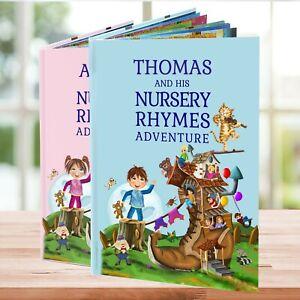 1st Birthday or Christening Gift  A Personalised Nursery Rhymes Book in Hardback