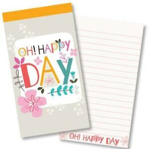 Oh! Happy Day Christian Gift Jotter Notepad Ruled with Bible Verse