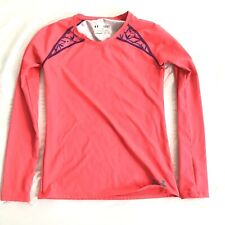Under Armour Youth Girls Long Sleeve Base Layer Shirt Top Pink 14/16 Coldgear