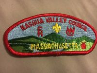 MINT CSP Nashua Valley Council S-2 Red Border Yellow Massachusetts