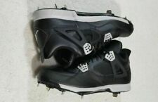 NEW Nike Air Jordan IV Retro Metal Baseball Cleats Black 807710-010 Men's Sz 8.5