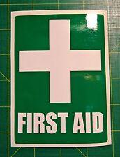 FIRST AID safety marine grade vinyl decal sticker.Work car,ute 4x4,4wd,van,truck