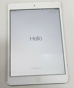 Apple iPad Mini Gen 1 A1455 SOLD AS IS/ Activation locked/Crack screen/Poor Batt