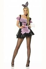 Leg Avenue Bunny French Maid Costume 83093 Black/Pink Medium/Large