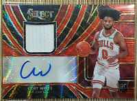 2019-20 Panini Select Tmall Coby White Red Wave Patch Auto 🏀 🔥 Bulls