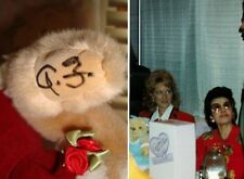 """*Rare Hand Signed Af* Annette Funicello 1992 Wdwc Bear 15"""" Disney Le #1204 Mib"""