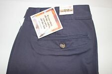 NWT DOCKERS Size 12 Women's Flat Front Navy STRAIGHT FIT Stretch Chino Pants