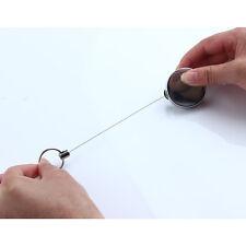 Anti-verloren Edelstahl Schlüsselanhänger Sicherheit Schlüsselring Dehnbar 60cm