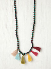 FREE PEOPLE NEW TRIBAL BEADED TASSEL FREE SPIRIT NECKLACE