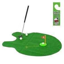 New Toilet Bathroom Mini Golf Potty Putter Game Toy Novelty Christmas Xmas Gift