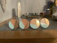 L👀K Nordic Drawer/Cabinet Pull Set of 6 Round Shaped Mint And Gold
