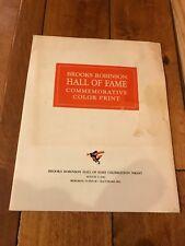 BALTIMORE ORIOLES BROOKS ROBINSON HALL OF FAME PRINT 1983 BILLY PIERCE ESTATE