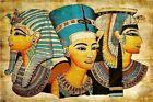 """Vintage Egypt Egyptian Pyramid Art Cleopatra Nefertiti CANVAS PRINT 16""""X12"""""""