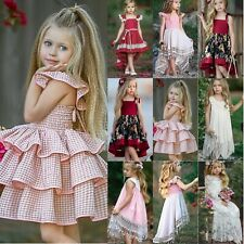 Kids Flower Girl Tutu Tulle Dress Sequins Wedding Princess Holiday Party Dresses