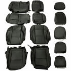 For Jeep Wrangler Jl 4dr Rubicon 18-21 Leather Seat Covers Black Front Rear