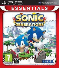 Sonic Generations - Sony PS3 Playstation 3 Essentials - New & Sealed - FREE P&P
