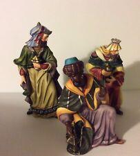 "Christmas Nativity Scene Creche Three Wisemen Magi 7"", 7 1/2"", 9 1/2"" Bisque"