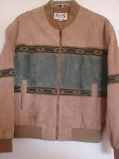 SCULLY Arena jacket suede Navajo Aztec details western