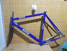 """vintage Gios alloy road frame 1"""" Carbon fork c-c 53 cm 27.2mm"""
