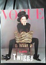 *** VOGUE ITALIA  MAGAZINE April 1993 Twiggy cover