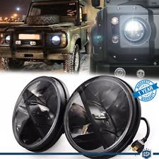 "Coppia FARI 7"" Anteriori FULL LED PER Land Rover Defender 6500K DRL BIANCO GHIAC"