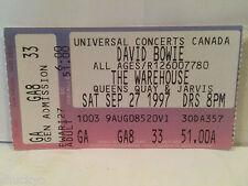 David Bowie Concert Ticket Stub 9-27-1997 Warehouse Toronto - Rare