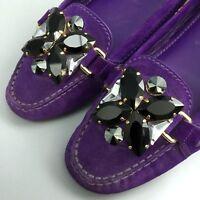 Louis Vuitton Women Stone Monte Carlo Leather Ballerina Flat Pump Shoe Size 37.5