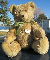 "VINTAGE MOHAIR RARE TEDDY BEAR BIG 20"" GROWLER RABY RAUENSTEIN TAG MADE GERMANY"